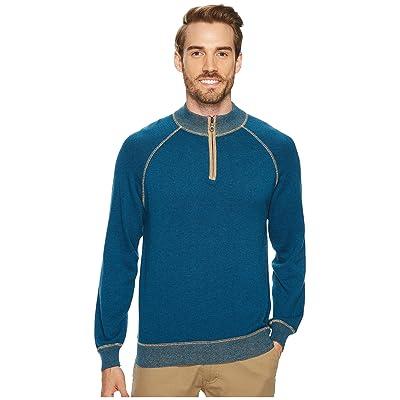 Agave Denim Victory at Sea Long Sleeve 1/4 Zip 12GG Sweater (Legion Blue) Men