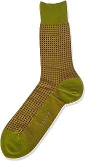 FALKE Men's Uptown Tie Socks Cotton Black Navy Blue More Colours Thin Light Colourful Calf Socks Patterned Coloured For Al...