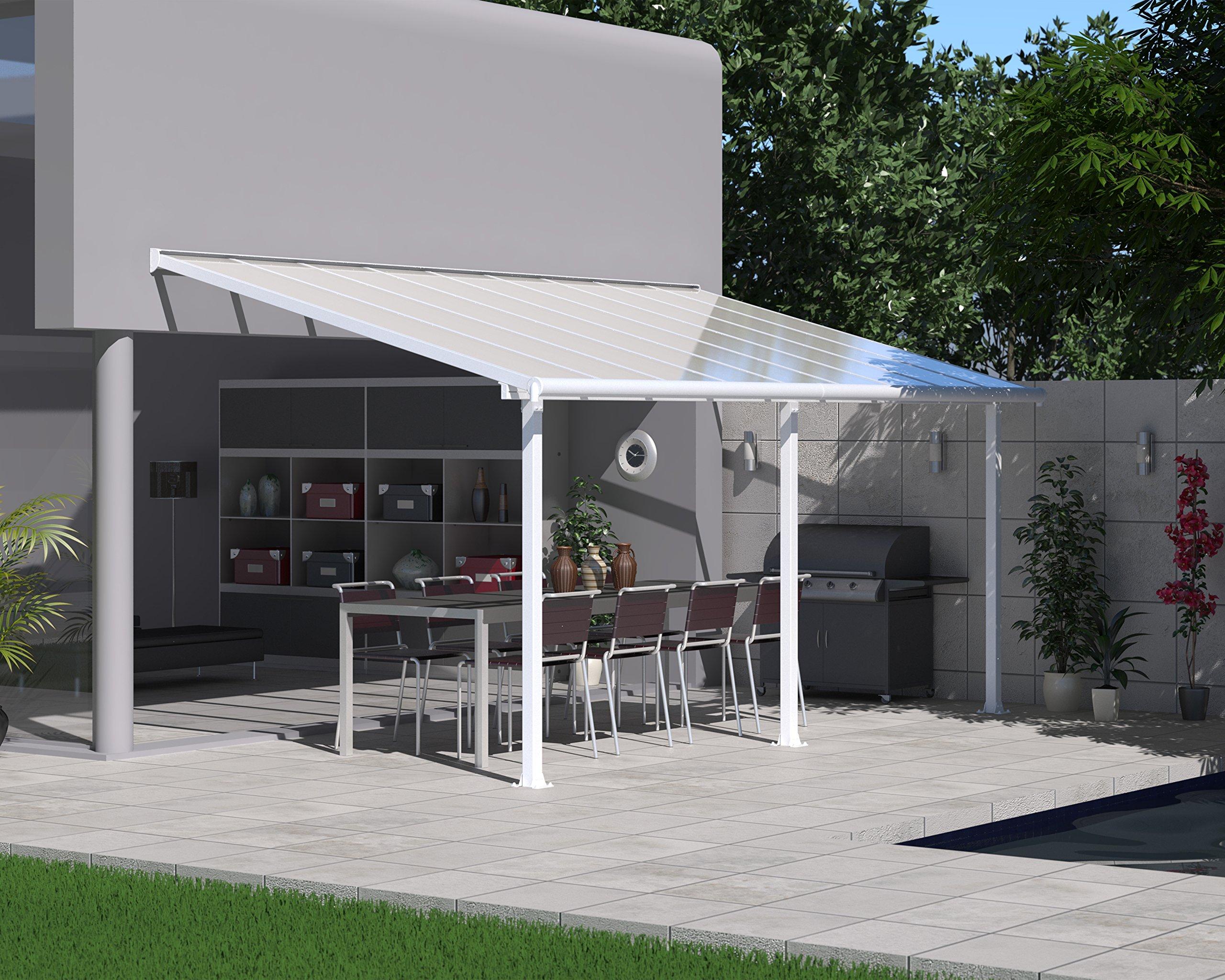 Palram Olympia Cubierta para terrazas, Blanco, 546x295x305 cm: Amazon.es: Jardín