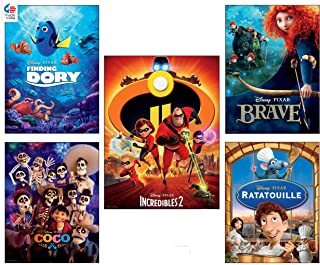 Ceaco Disney/Pixar 5 in 1 Multipack Jigsaw Puzzles, (2) 300 Pieces, (2) 500 Pieces, (1) 750 Pieces