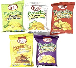 LULU Platanitos, Plantain Chips Variety Pack of 5 Flavors (1 of each, total of 5)