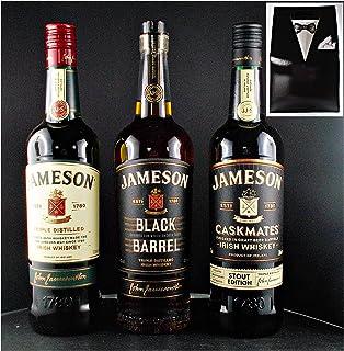 3 Flaschen Jameson : Black Barrel  Caskmates  John Jameson irischer Whiskey im Smoking