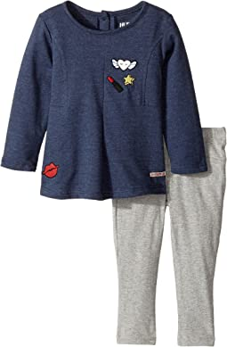 Hudson Kids - Two-Piece Heather Jersey Tunic w/ Stretch Jersey Leggings (Infant)