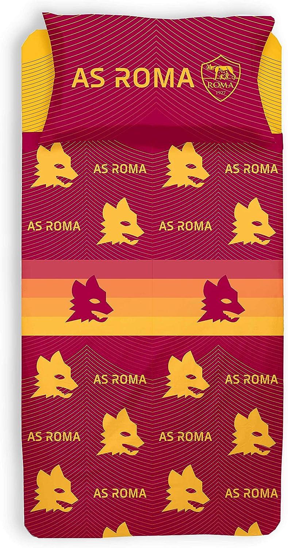 Parure Copripiumino Singolo A.S Roma 100/% Cotone