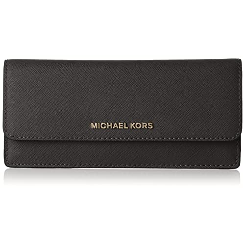 MICHAEL by Michael Kors Jet Set Travel Black Flat Wallet 0178449a60a1b