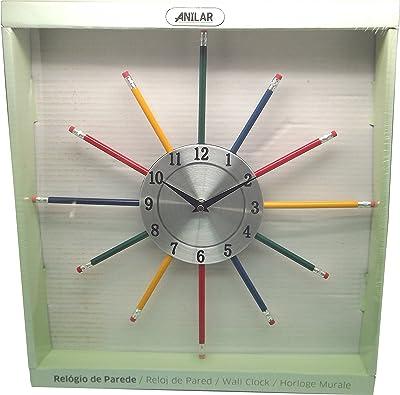 Anitex YGZ-1057–Wall Clock, Steel, Plastic, Multi-Coloured