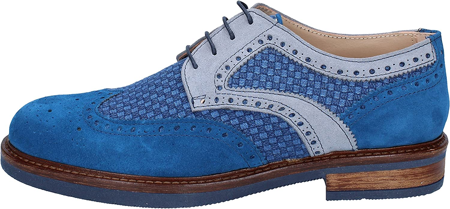 FDF SHOES Oxfords-shoes Mens Suede bluee