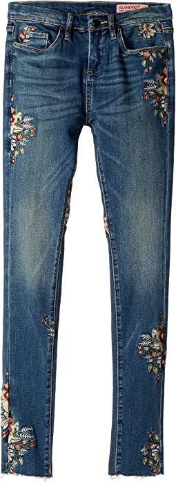 Blank NYC Kids - Denim Embroidered Skinny in Green Thumb (Big Kids)