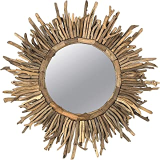 Best round driftwood mirror Reviews