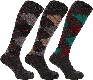 HDUK Mens Socks, Pack de 3 pares de calcetines largos para hombre, de lana de cordero, 39 45