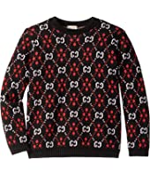 Gucci Kids - Double G Co Long Sleeve Crew Neck Knit (Little Kids/Big Kids)