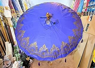 Large Purple Waterproof Umbrella, Bali Umbrella, Wedding Umbrella, Asian Umbrella, Henna Party Beach Umbrella, Indian Umbrella, Unique Import