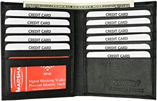 New Premium Lambskin Leather Bifold Hipster Credit Card Wallet