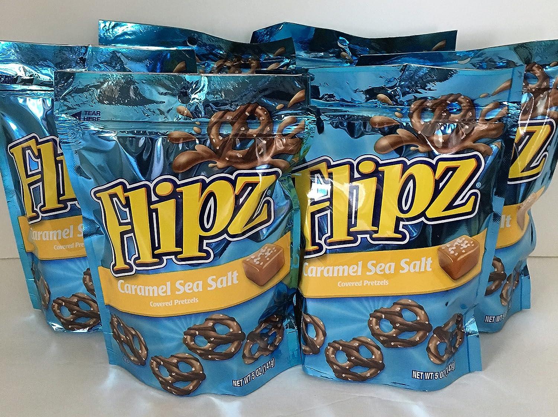 Flipz Caramel trend rank Sea Salt Covered Pretzels Ounce 5 Las Vegas Mall 6 Pack Bag
