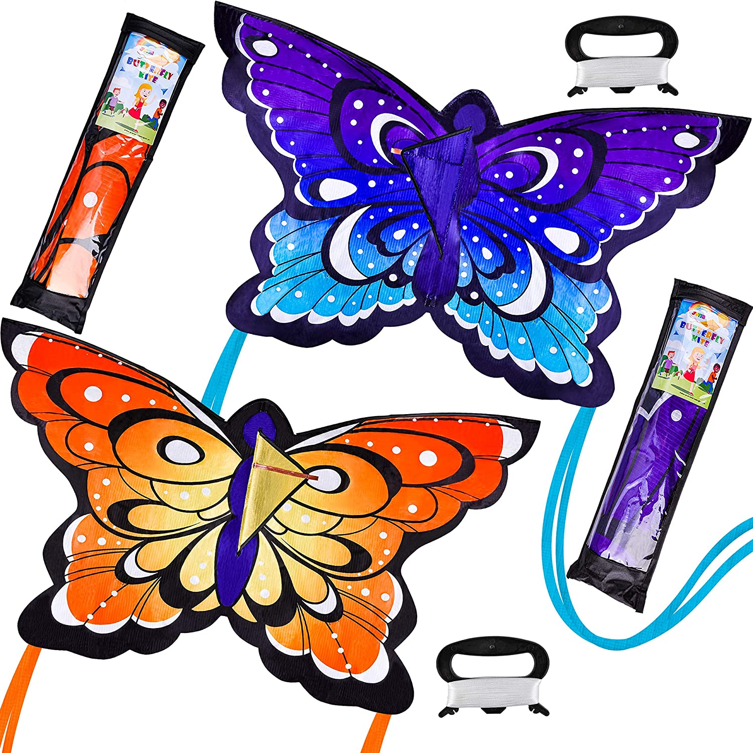 JOYIN 2 Packs Butterfly Kite Yellow and We OFFer at cheap prices H Store Blue Color Easy to Fly