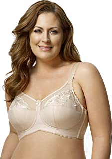 adccd3e20c8 Elila Embroidered Microfiber Softcup Bra 1301 Nude - 46 - D