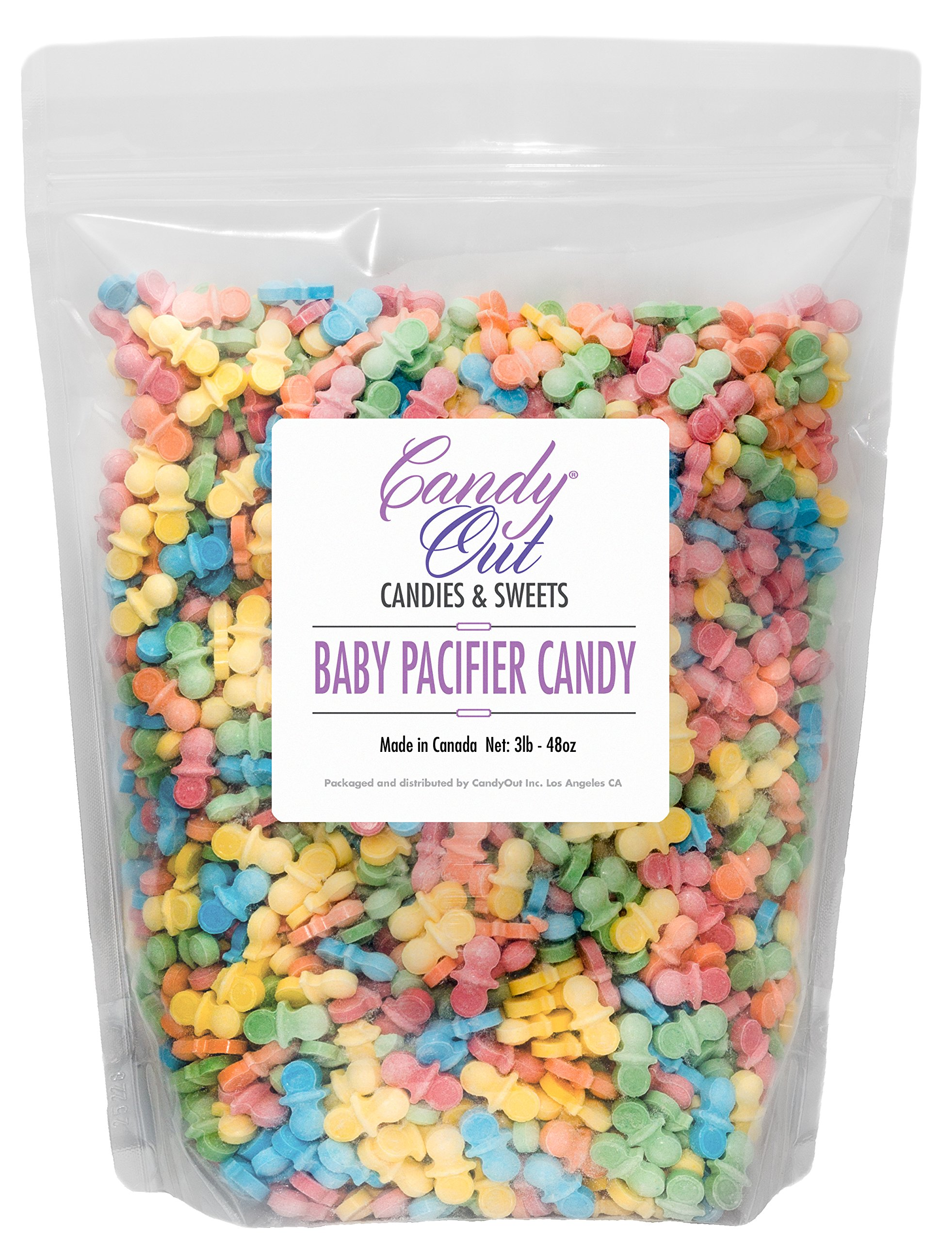 CandyOut Baby Pacifier Candy 3 Pound Resealable Bag