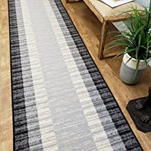 Maxy Home Hamam Collection Rubber Back Rectangle Area Rugs 2x5 Runner Grey 5134-2X5