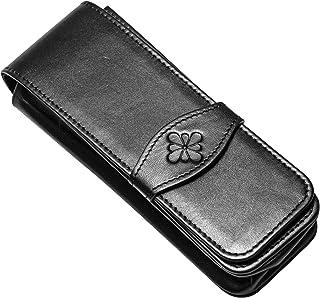 Diplomat D41000004 leren etui voor vier pennen, zwart
