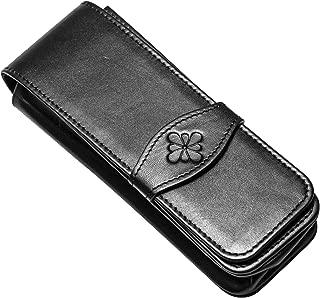 Diplomat D41000004 Leather Pen Case for Four Pen - Black