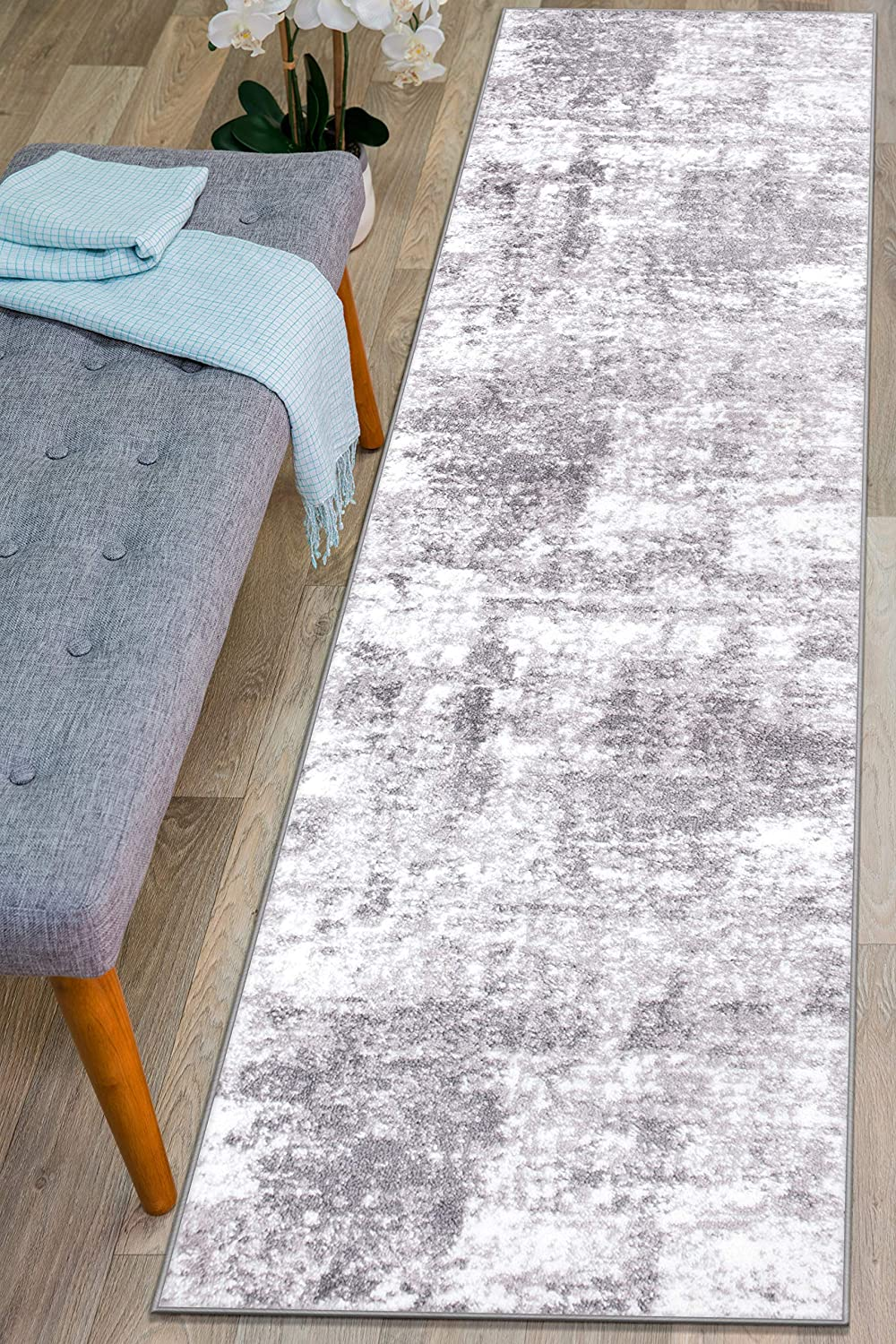 Rugshop Distressed Abstract Runner Rug Gray 2' x Ranking TOP5 Discount mail order 7'