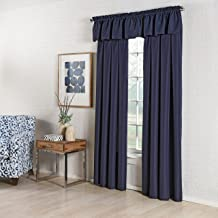 "LORRAINE HOME FASHIONS لوحة ستارة نافذة مصممة 55"" x 63"" 00200-63-00003 BLUE"