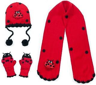 Kidorable Girls' Little Ladybug Hat Scarf Set