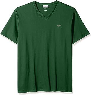 Lacoste Men's Short Sleeve V-Neck Pima Cotton Jersey T-Shirt