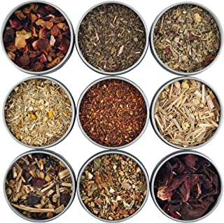 Heavenly Tea Leaves Herbal Tea Sampler, 9 Naturally Caffeine-Free Loose Leaf Herbal Tisanes