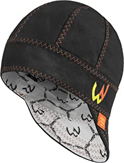 Welder Nation – 8 panel Welding Cap, durable, soft 10 oz cotton duck canvas, for safety and protection while welding. STICK ARC (7 1/2, Black, Orange)