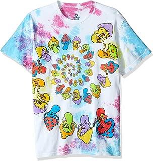 Light Fantasy Spiral Mushrooms Short Sleeve Tie Dye T-Shirt