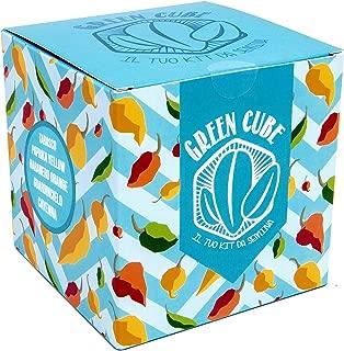 Green Cube, TU kit de siembra de Guindilla–5diferentes variedades de Guindilla picantes de cultivar. Perfecta idea-regalo.