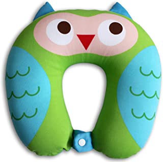 NIDO NEST Kids Travel Neck Car Pillow - for Child Toddler Airplane Cars, OWL