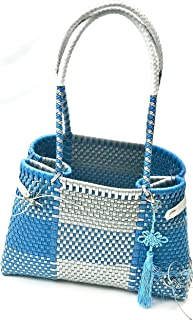 TOTE BAG FOR WOMEN - This handmade basket bag for women is an handbag for the beach. Great for your next picnic, beach or park outing and even as a shopping tote bag. Leather straps very sturdy.