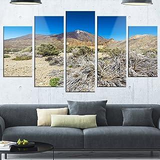 Designart Caldera of the Volcano Teide - Contemporary Landscape Glossy Metal Wall Art, 32'' Hx60'' Wx1'' D 5PD