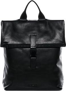 Feynsinn Rucksack echt Leder MATS groß Kurierrucksack Laptoprucksack Backpack Tagesrucksack Laptopfach 15.6 Lederrucksack Unisex schwarz
