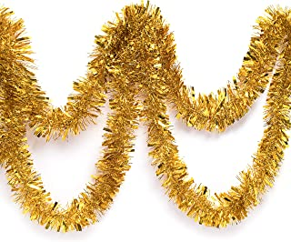 Best gold star tinsel garland Reviews