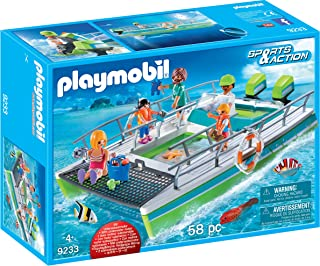 PLAYMOBIL® Glass-Bottom Boat with Underwater Motor Building Set