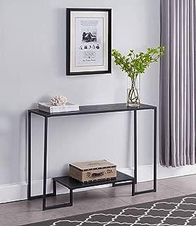 Kings Brand Furniture – Vidal Metal/Wood Sofa Console Table, Black/Grey