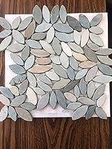 Pebble Tiles Pebble Stone Tiles Interlocking Flower Mosaic Floor Tiles (10-Sheets) Kitchen, Bathroom, and Patio Flooring N...