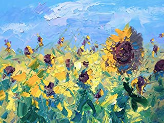 b389512bc91 Sunflowers Painting on Canvas 40