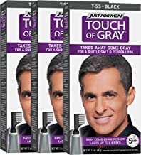 Just For Men Touch Of Gray Comb-In Men's Hair Color , Black (Pack of 3)