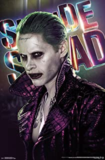 Trends International Suicide Squad Joker Up Close Wall Poster 22.375