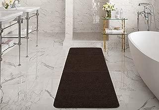 Silk Road Concepts SR-LUX6008-2X6 Collection Shag Bath Runner Rug, 2'2