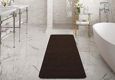 """Silk Road Concepts Brown Bath Runner Rug, 20"""" x 59"""""""