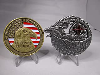 Lot of 2 Challenge Coins Central Intelligence Agency CIA Black Ops Sigint Bad Moon on The Rise and CIA Special Operations Group SOG Challenge Coins