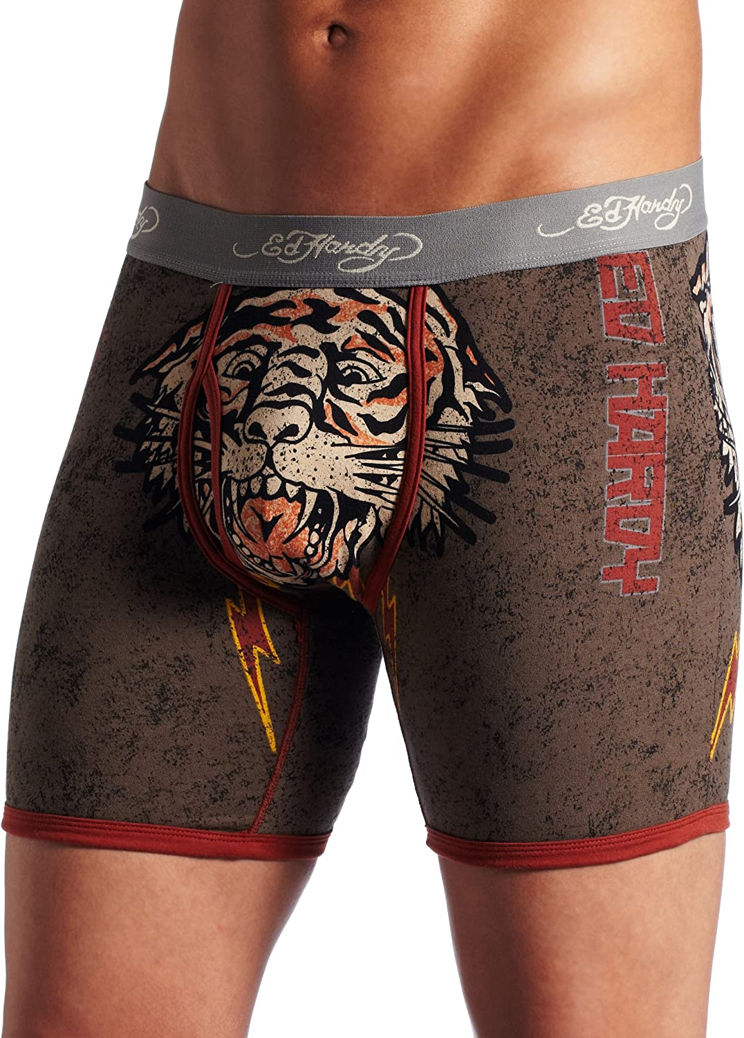 Ed Hardy Men's Premium tigered for Life Boxer Brief