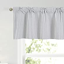Fits Single Window 33-48 Inches Wide Premier Prints Jersey Orange Arched Rod Pocket Custom Flat Valance Curtain Yellow Blue Gray