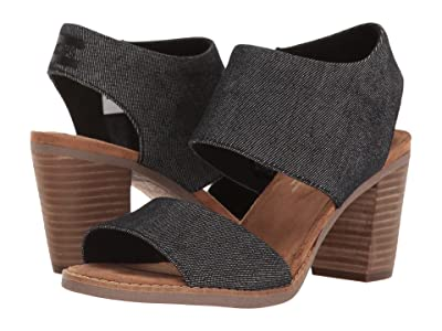 TOMS Majorca Cutout Sandal (Black Denim) Women
