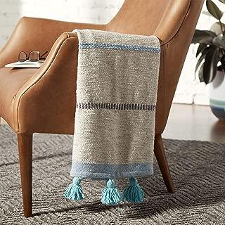 Best blue and white pom pom blanket Reviews